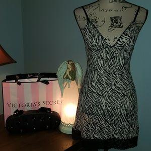 New Victoria's Secret Zebra Bodycon Lingerie